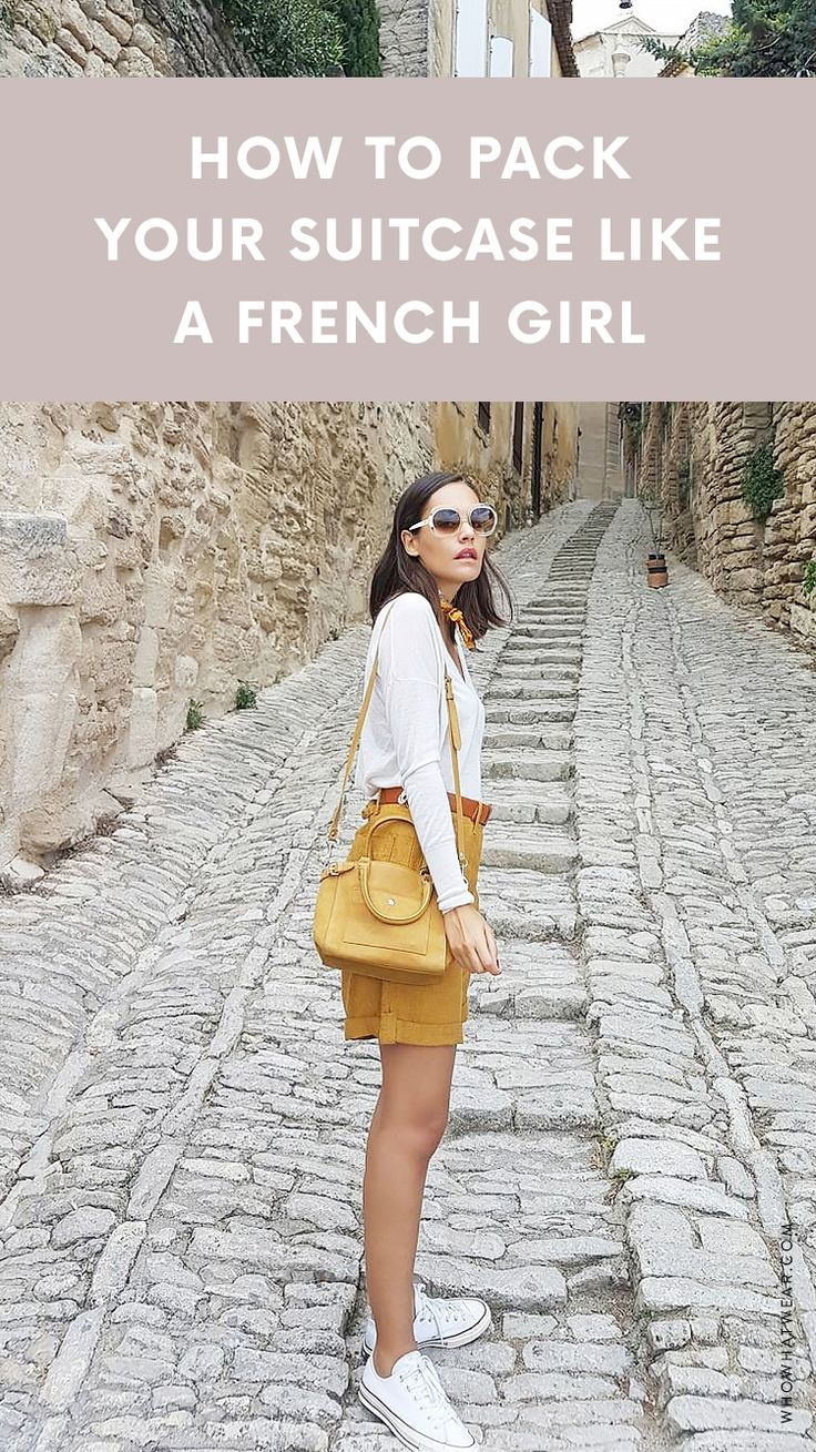 Save this to learn how to pack your suitcase like a French girl.