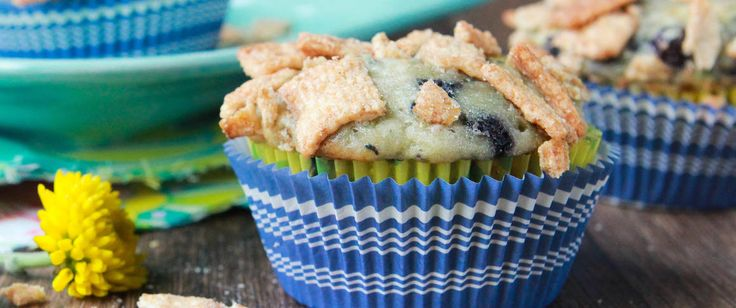 We added fresh zucchini to Betty Crocker Blueberry Muffin Mix and topped with crushed Cinnamon Toast Crunch cereal for tantalizing…