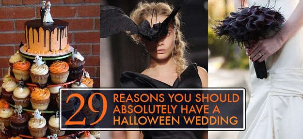 29 Reasons You Should Absolutely Have A Halloween Wedding