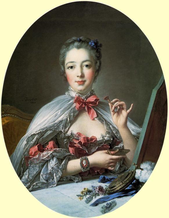 boucher - Madame de Pompadour at her Dressing Table. 1758