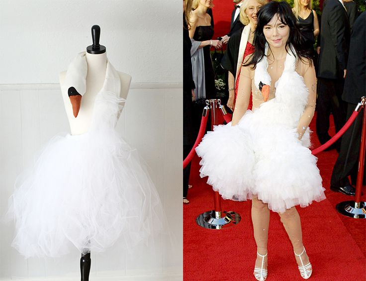 Bjork inspired swan dress tutorial! For the day I finally get back to an adult Halloween party....
