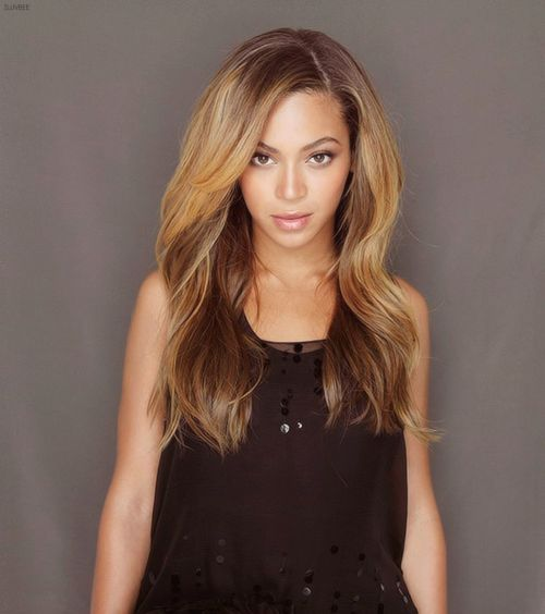 Love this hair color on Beyonce. The lip color too.