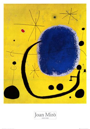 ¡El Oro del Azul! Ver y analizar esta obra es llegar a la grandeza!   Artist:Joan Miro Title:Gold of azure Media: Oil on canvas location: Barcelona, family owns it year:1967 i would only know this from art history!