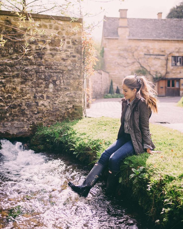 Muddy boots from a day of exploring the countryside I love it here! #cotswolds…