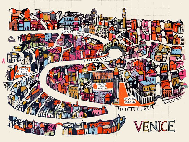A MAP OF VENICE BY ANNA HYMAS