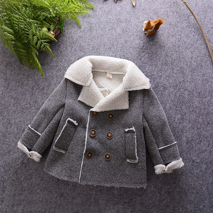>> Click to Buy << 2016 Winter Boys Coats Baby Doublle Breasted Warm Wool Jacket Children's Clothing Gray  #Affiliate