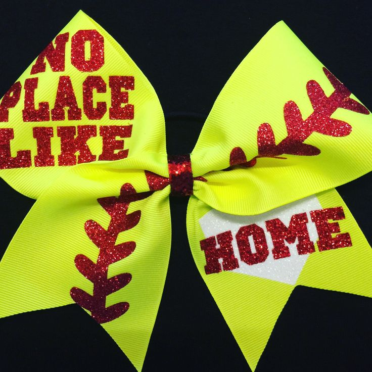 No Place Like Home bow looks great with any color softball uniform. Coordinate on the field with the ball, it looks so cute!