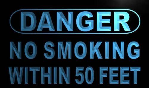 Danger No Smoking within 50 feet Neon Light Sign