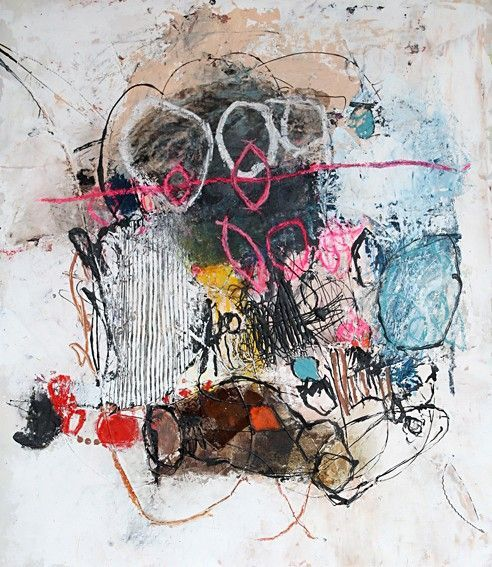 """gas oil"" by Nadine Bourgne #mark_making #mixed_media"