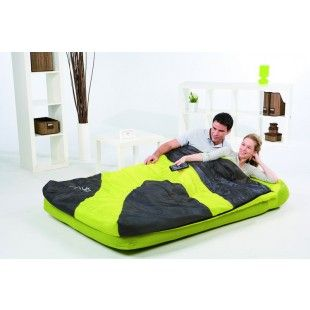 matelas sac de couchage int gr 2 personnes bestway jaune 191 x 137 x 22 cm matelas. Black Bedroom Furniture Sets. Home Design Ideas