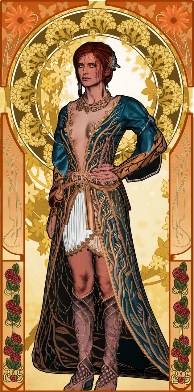 100 sorceresses Triss 13 Art Nouveau by aschmit.deviantart.com on @DeviantArt