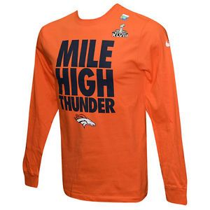 Denver Broncos Mile High Thunder Super Bowl XLVII Long Sleeve Shirt L ...