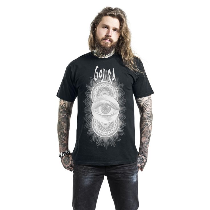 "Classica T-Shirt uomo nera ""Open Eyes"" dei #Gojira."