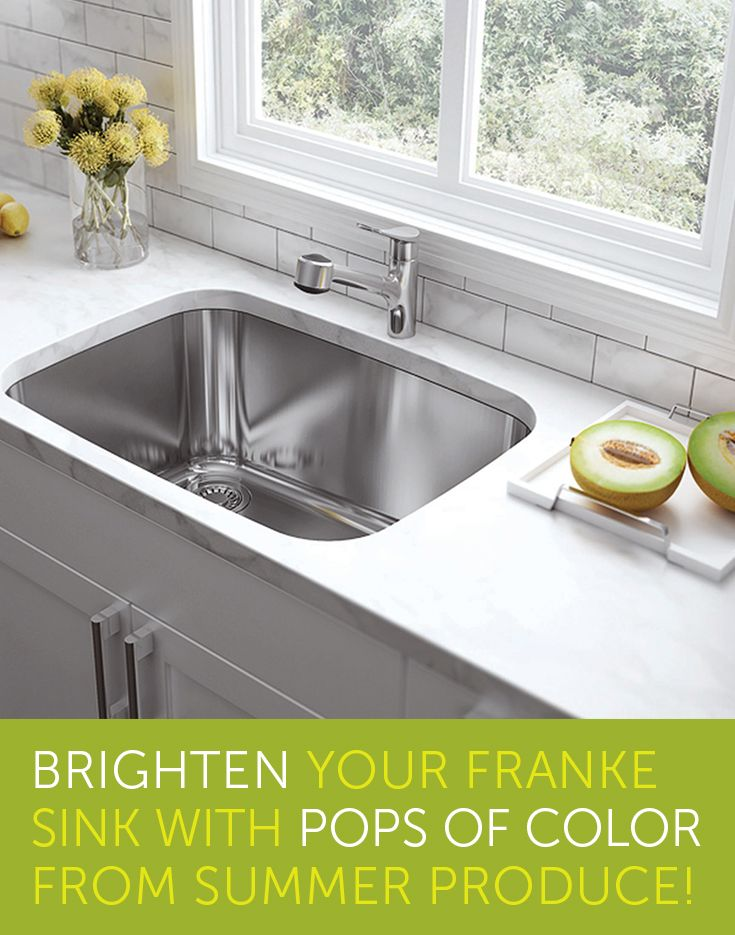 Exceptional Brighten Your Franke Sink With Pops Of Color From Summer Produce!  #KitchenDesign #ModernKitchen