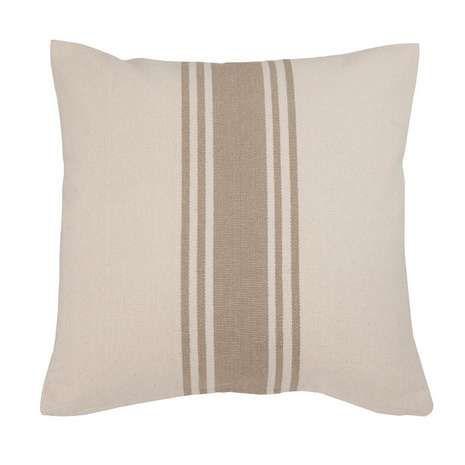 Coastal Natural Woven Stripe Cushion | Dunelm