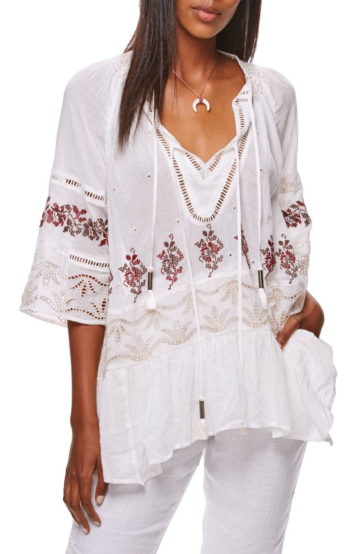 Free People You're Mine Peasant Tunic available at #Nordstrom
