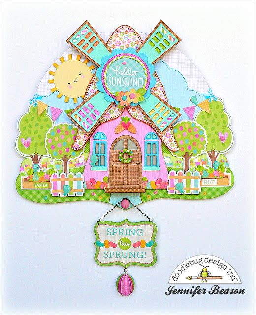 Doodlebug Design Inc Blog: Easter Express Collection: Amazing Door Decor by Jennifer Beason