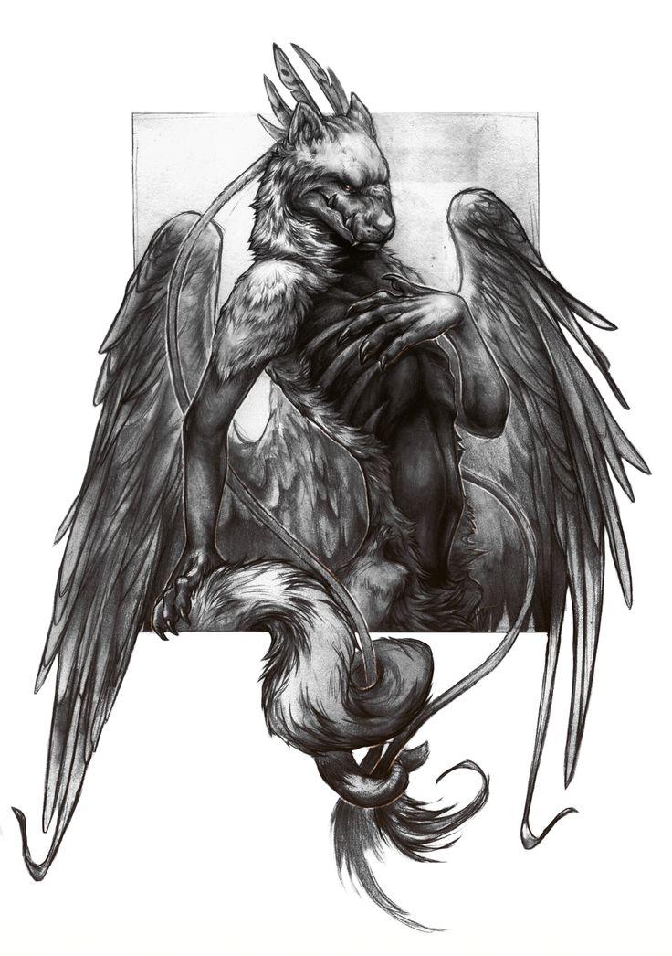 riven by mattbarley demon devil humanoid flying wings