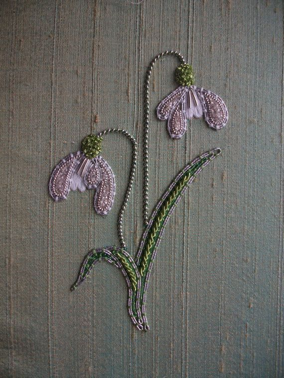Silver Snowdrop Embroidery Kit by VineEmbroidery on Etsy