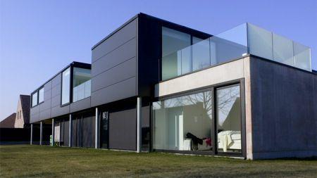 Genomineerden staalbouwwedstrijd 2012 woning met loods moderne architectuur en staal pinterest - Architectuur staal corten ...