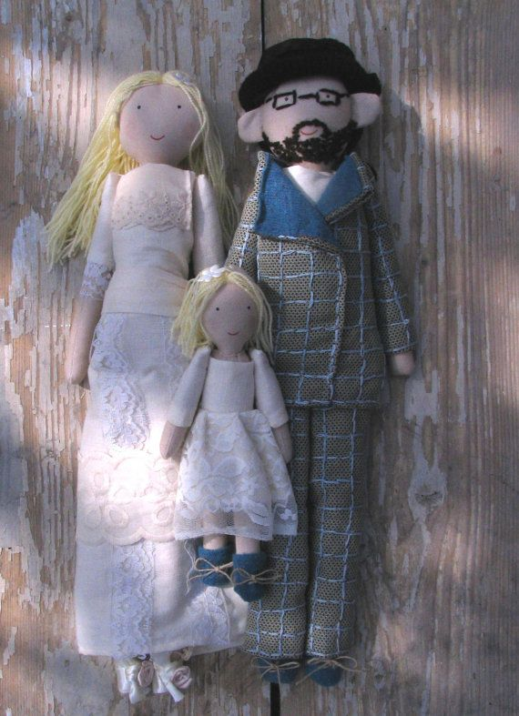 Custom personalized rag dolls for bride and groom by apacukababa. https://www.facebook.com/ApaCukababa