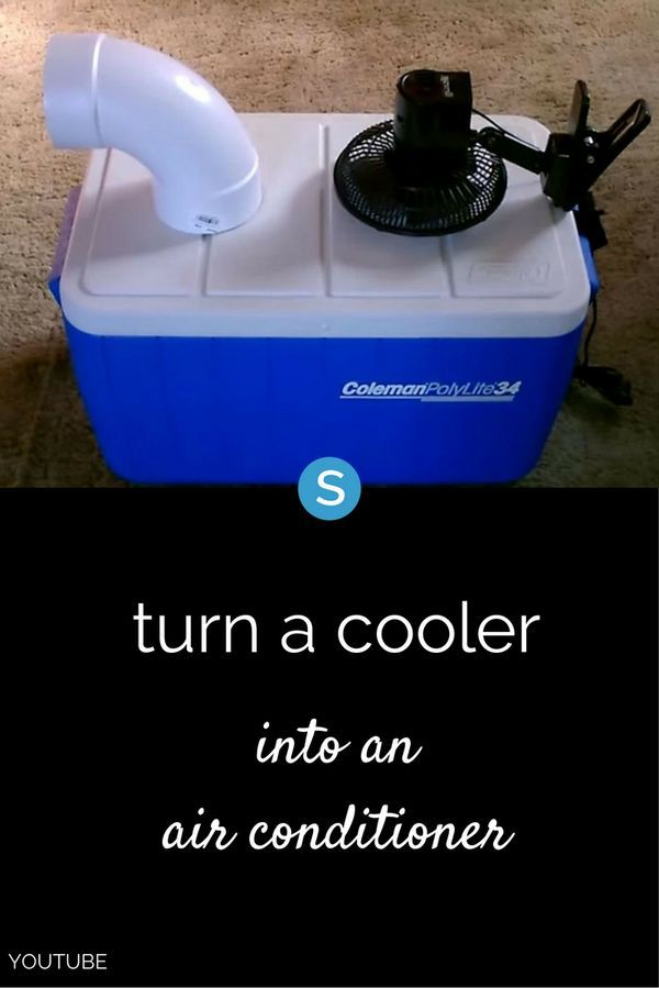 If it is hot in your home and your air conditioner isn't working (or can't keep up), here's an easy (and cheap) way to make a portable air conditioner using a cooler