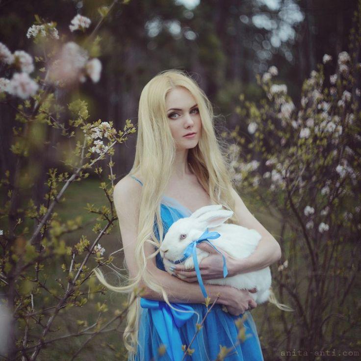 Best Fairy Tale Photography Images On Pinterest - Photographer captures fairytale like portraits women animals