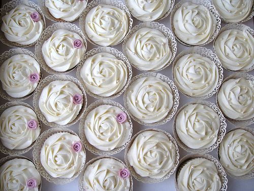 Wedding Cupcakes Cupcake Decorating White Rose
