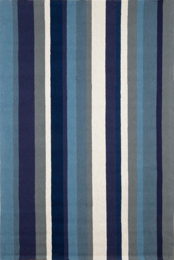 Marine Vertical Stripe Area Rug   Indoor Outdoor Rugs   Coastal Area Rugs    Available