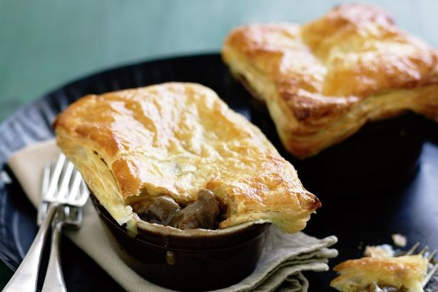 Beef and Guinness pies make a hearty winter meal and are easy to prepare.
