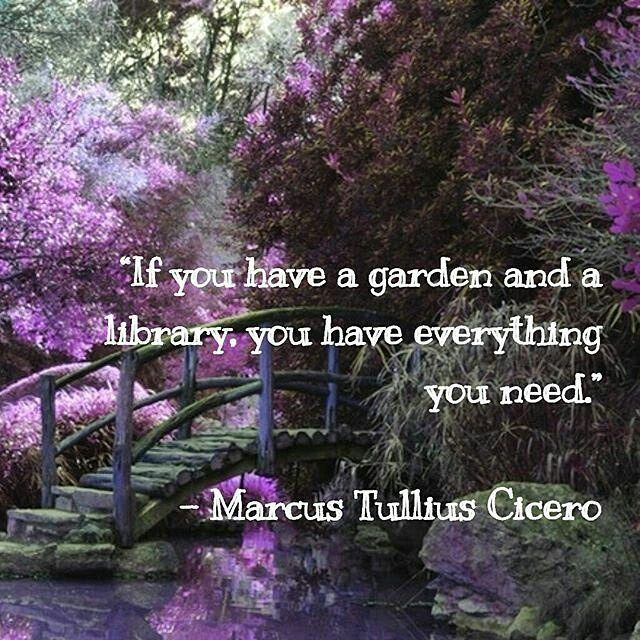 Ahhhhh #contentment! HAPPY SPRING!! #quotes #quoteoftheday #garden #amreading #books #bookshelf #library #bookworm #gardening