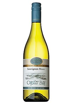 Oyster Bay Sauvignon Blanc.Crisp, Citrus, Peach, Medium-bodied. Marlborough, New Zealand- Earthy, herbal, somewhat subdued lemony aroma with hints of tropical fruit, gooseberry, and coconut. Medium to full bodied with herbal, citrus and ripe peach flavors with a slightly creamy, pleasing mouthfeel.