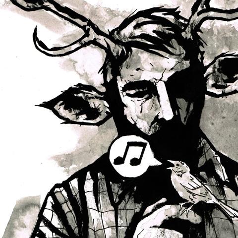 Very original ink illustration by Matthew Dunnart