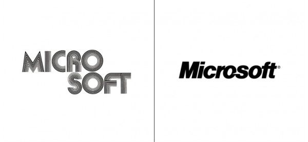 #Microsoft Logo Then and Now