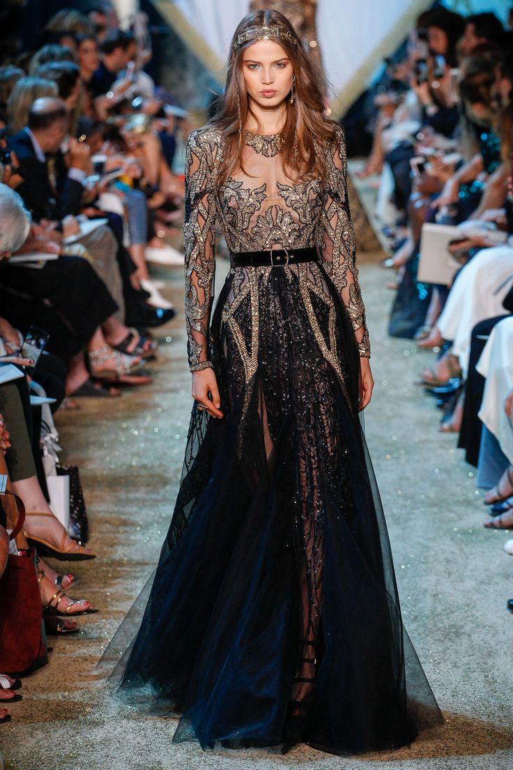 Elie Saab Fall 2017 Couture Fashion Show - Sara Witt