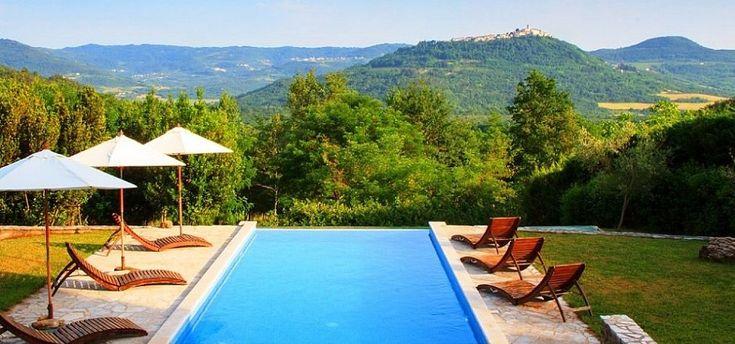 Ferienhaus mit Pool bei Motovun, Istrien, Kroatien