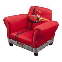 Disney Pixar Cars 2 Upholstered Chair Lightning Mcqueen Delta Toys R