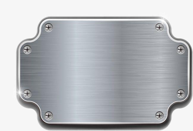Silver Gray Metal Plate Vector Material Metal Label Rivet Png And Vector Metal Clip Art Plates
