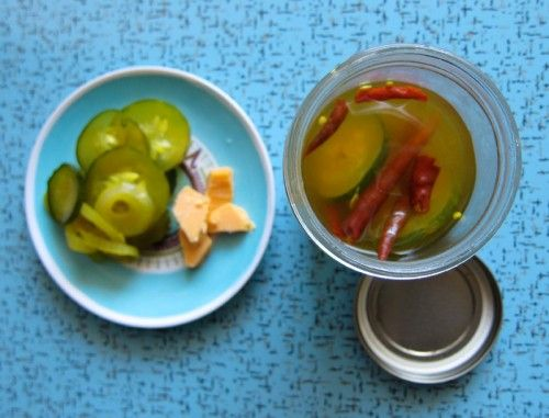 freezer pickles, yum! This gives several recipes for pickles to freeze,