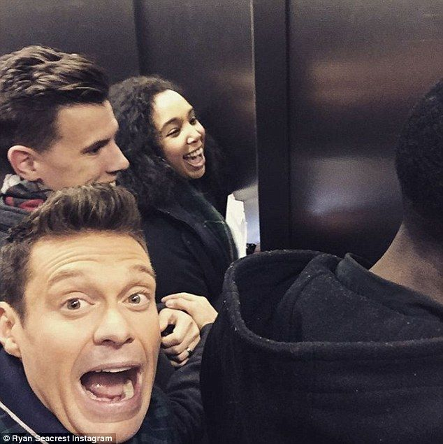 Going up? Friday morning TV host Ryan Seacrest found himself stuck in an elevator while on his way to Good Morning America