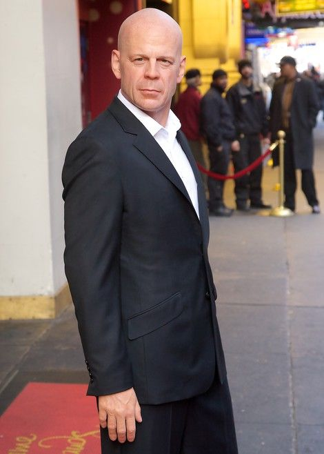 Bruce Willis wax figure at Madame Tussauds in New York City. It looks incredibly real.