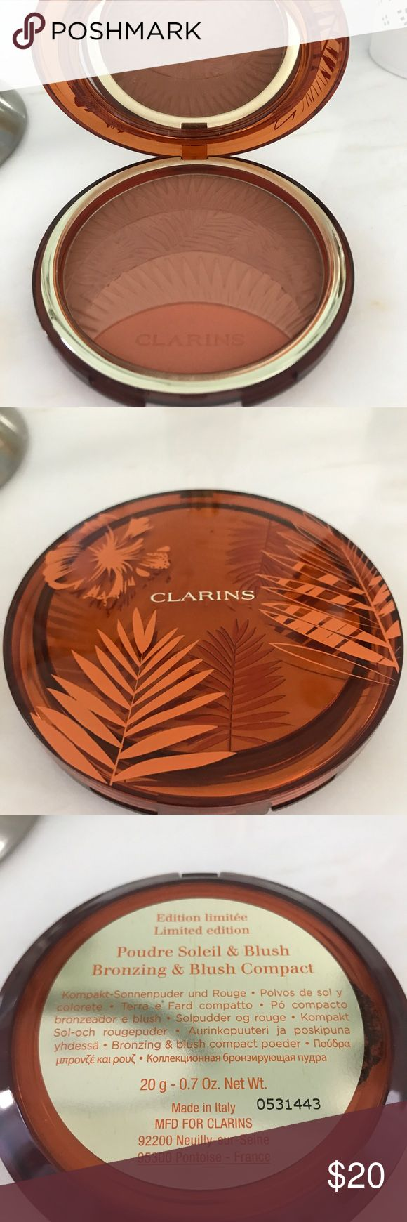 Clarins Bronzer and blush palette * New and only swatched a few times! clarins Makeup Bronzer
