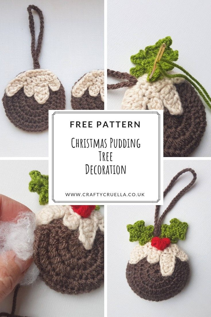Christmas Pudding Tree Decoration | Crochet for Christmas ...