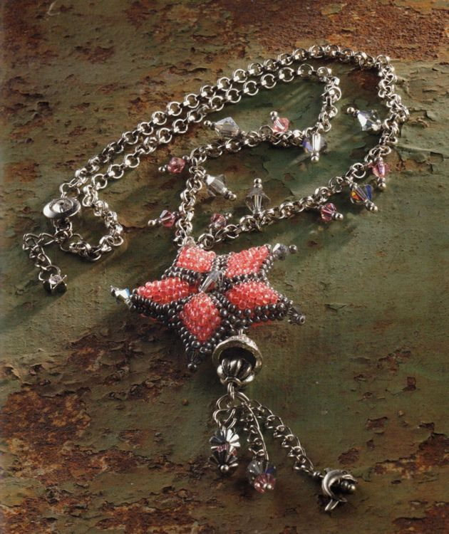 Bijuterii din margele Swarovski - Stea de mare