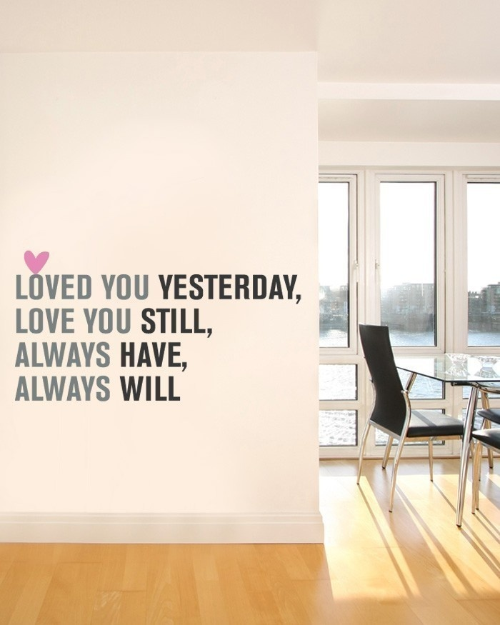 Love You Always Quote Lettering - Vinyl Wall Decal Sticker - Valentines Day.