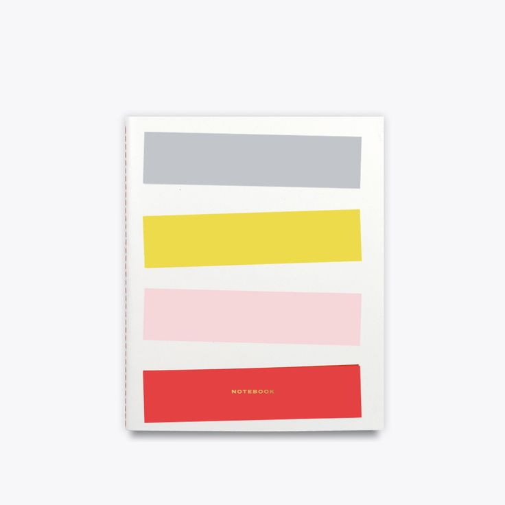 "Add a little oomph to your everyday with these colorful rectangles. Bold pops of color house blank cream-colored pages inside. It's the perfect size for thoughts, sketches and your ""take over the world"" to-do list. Size: 8″ x 6.5″ (20.32 cm x 16.51 cm) Features: 40 blank cream pages"