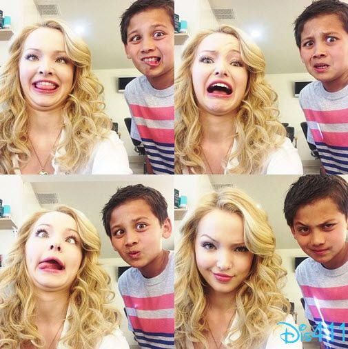 Dove Cameron And Tenzing Trainor�s Funny Faces Photo June 20, 2013