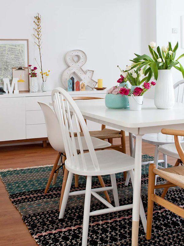 Decorar el comedor con espíritu vintage | Flowers | Pinterest ...
