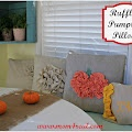 There Are No Pumpkins To Be Found...Make A Ruffled Pumpkin Pillow  http://www.mom4real.com/2012/09/ruffled-pumpkin-pillow.html#