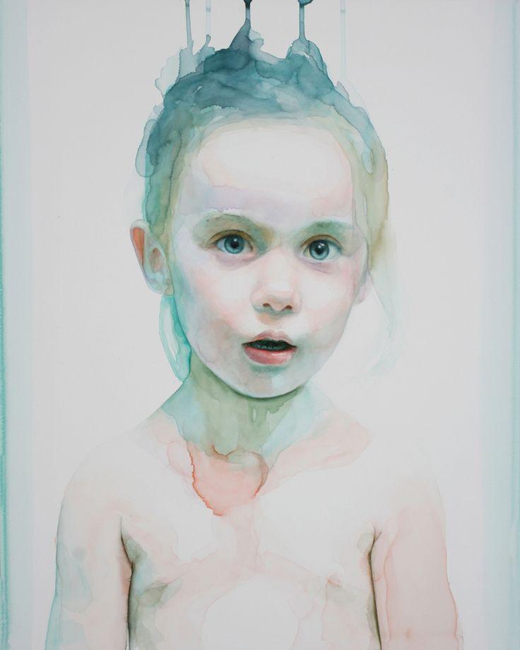 ali cavanaugh   Watercolor portraits, Portrait art